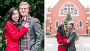 This Christmas-Inspired Georgetown University Engagement Shoot is Full of Nostalgia