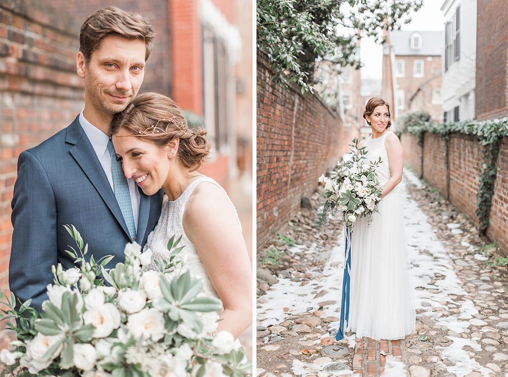 Engaged in December, Married in March: Melissa and Bogdan's Late Winter Wedding in Old Town Alexandria