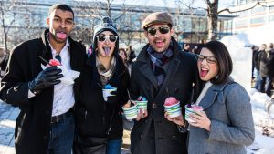 Throw Axes and Drink Alcohol at Ice Bars at This Winter Festival