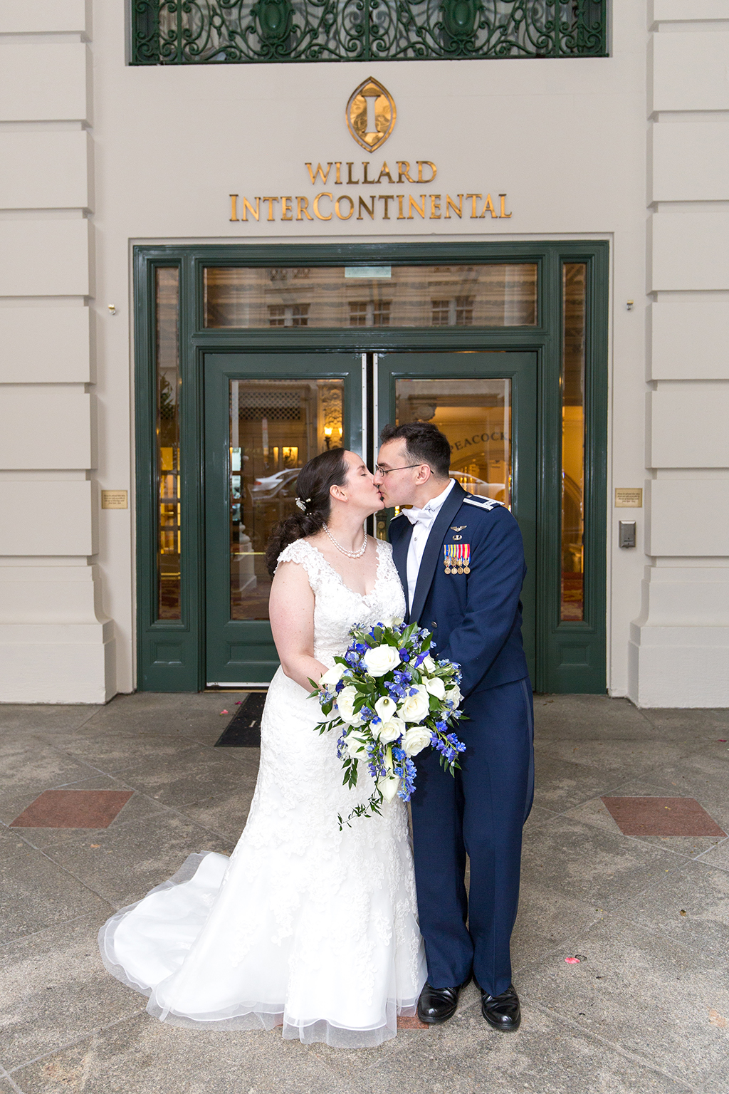 This Naval Officer Bride Unwittingly Smuggled Her Own Engagement Ring Overseas to Her Air Force Officer Groom images 11