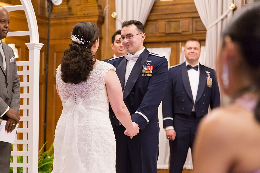 This Naval Officer Bride Unwittingly Smuggled Her Own Engagement Ring Overseas to Her Air Force Officer Groom images 3