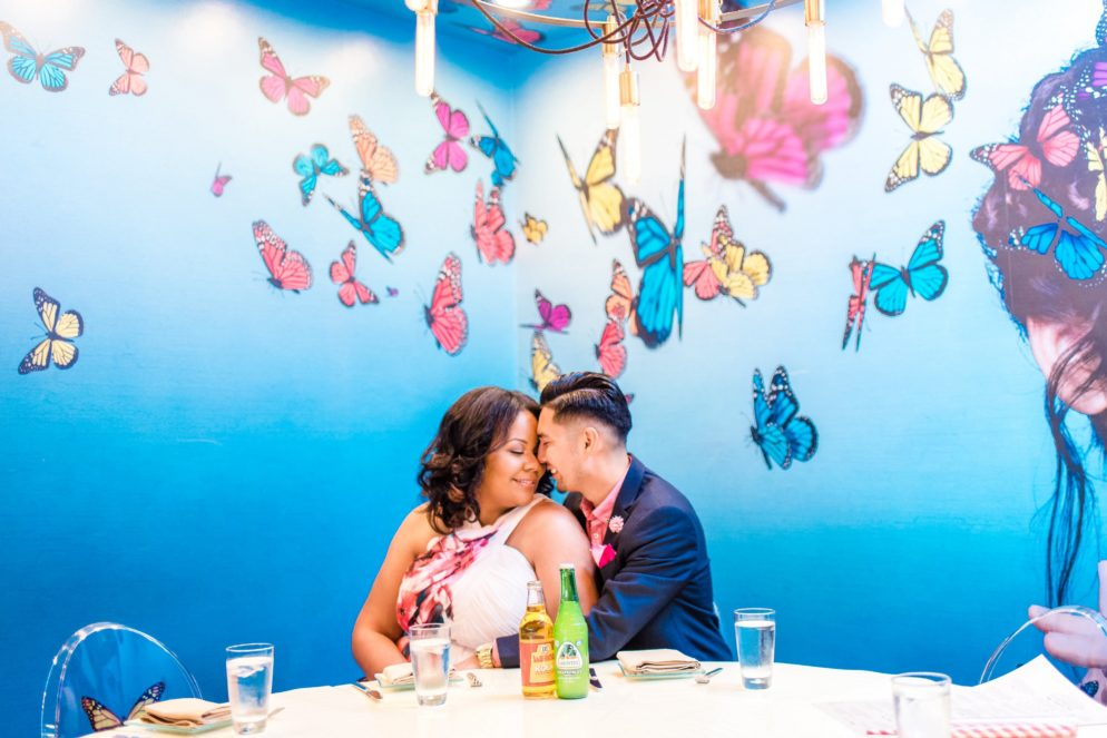 """Prelude to """"A Jamexican Fiesta"""": Jorge And Minette's Playful Engagement Shoot at Oyamel"""