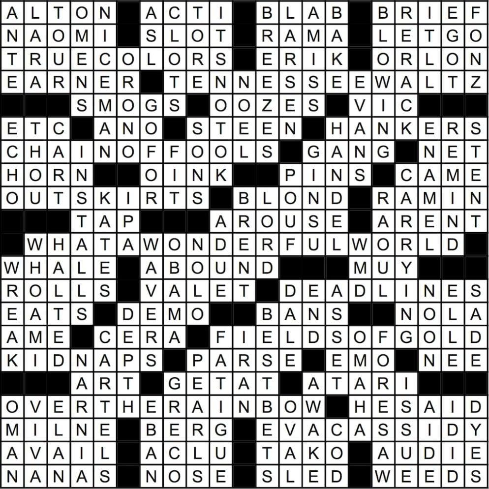 February 2018 Crossword Answer Key | Washingtonian