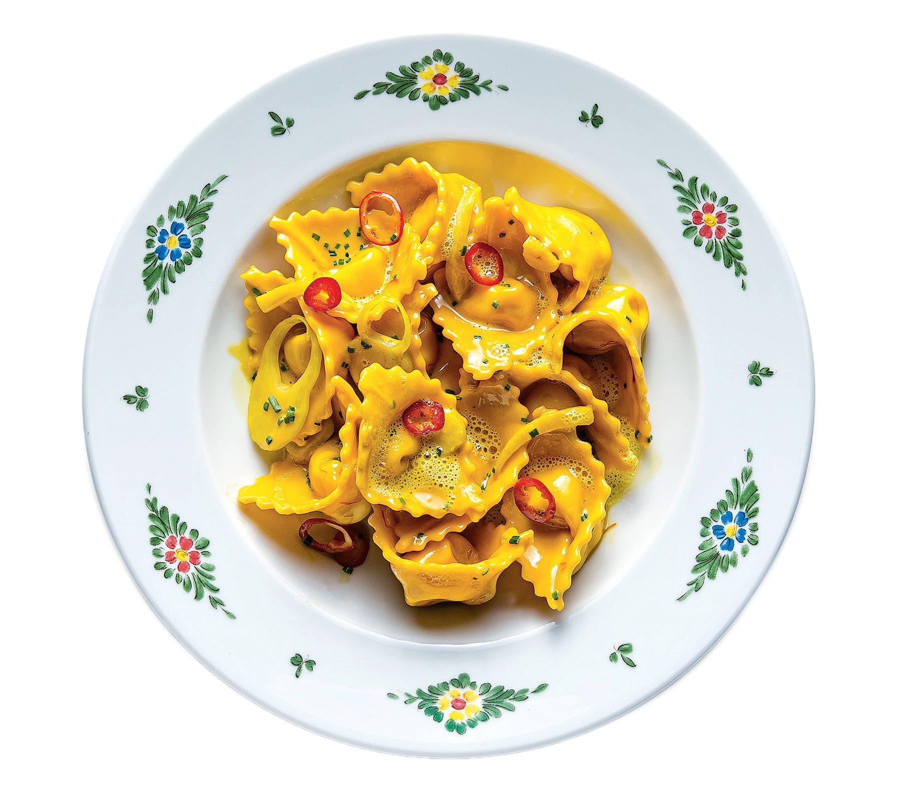 Crab tortellacci at Osteria Morini.