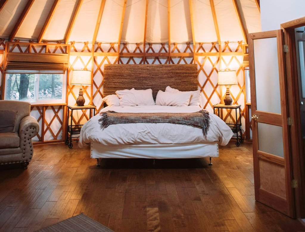 Weekend getaways from DC: Savage River Lodge yurt.