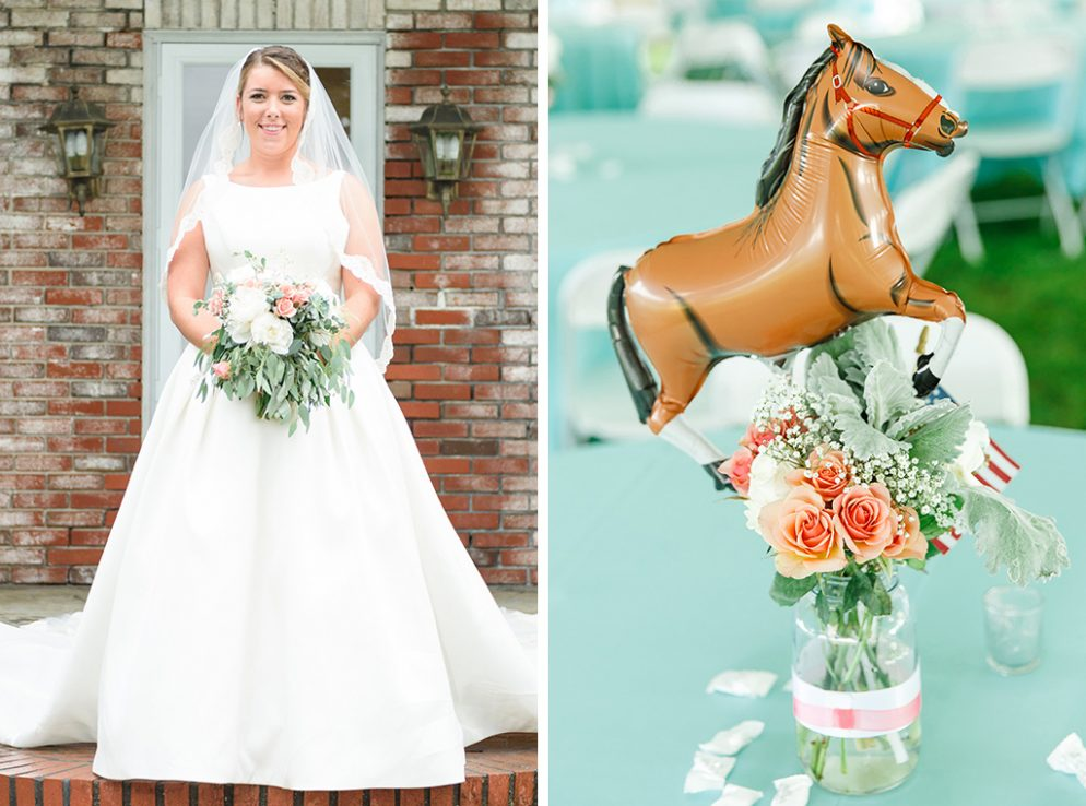 This Americana Wedding on a Maryland Horse Farm Featured Cowgirl Boots, Pony-Shaped Balloons, and A Live Bluegrass Band