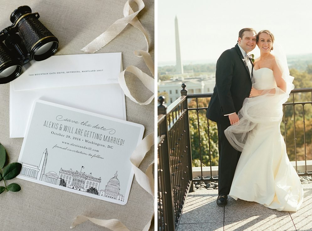 This DC-Loving Couple Got Engaged at the Reflecting Pool, Then Threw a Washington-Themed Wedding at the Hay-Adams