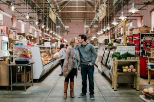This Couple's Eastern Market Engagement Shoot Proves That Washingtonians Really Are Obsessed with Their Grocery Stores