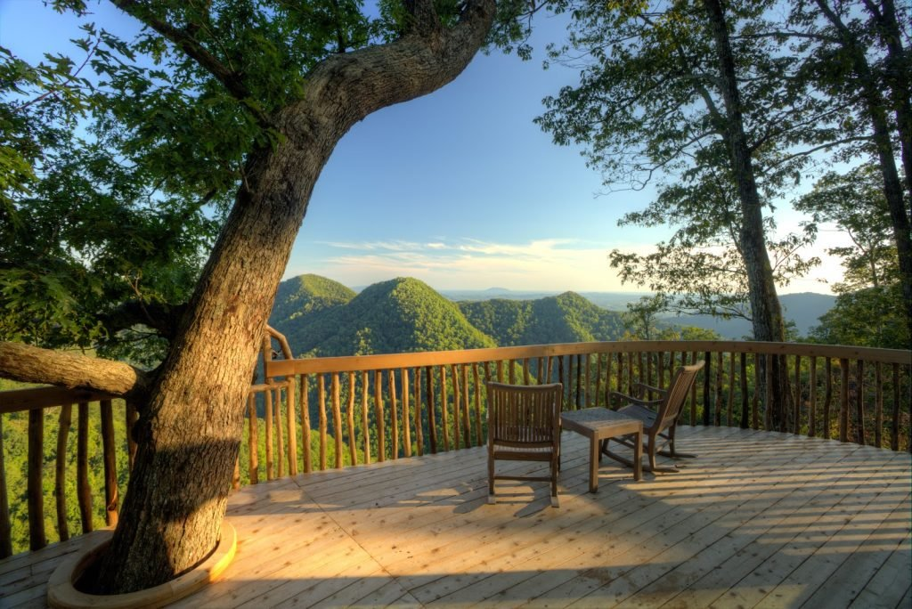 Weekend getaways from DC: Look down on the tree tops at Primland in southwest Virginia. Photo courtesy of Primland.
