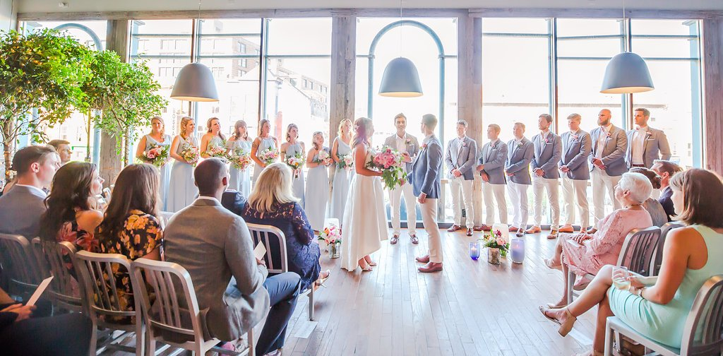 Roofers Union Was The Perfect Spot For This Eclectic Dance Party Wedding
