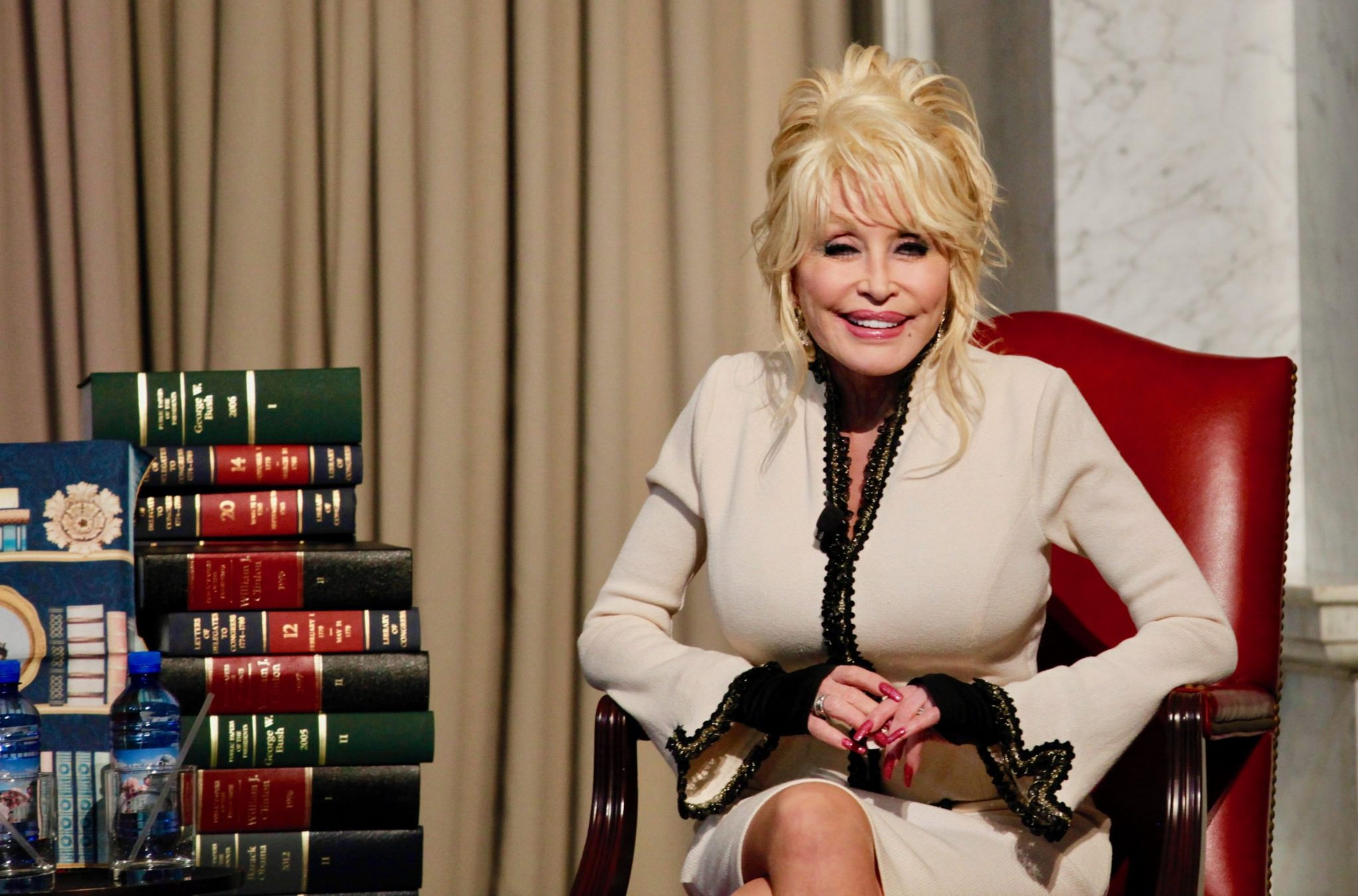 PHOTOS: Dolly Parton Visits Library of Congress to Donate Her 100 Millionth Book