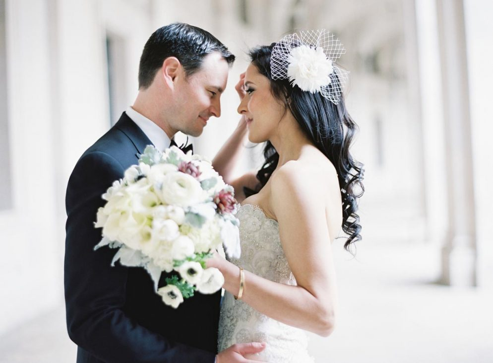 This Black-and-White Wedding Was the Perfect Blend of Vintage and Modern