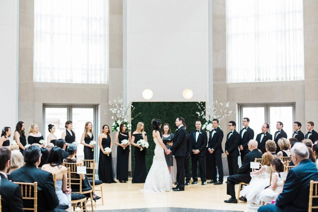 This Black-and-White Wedding Was the Perfect Blend of Vintage and Modern images 37