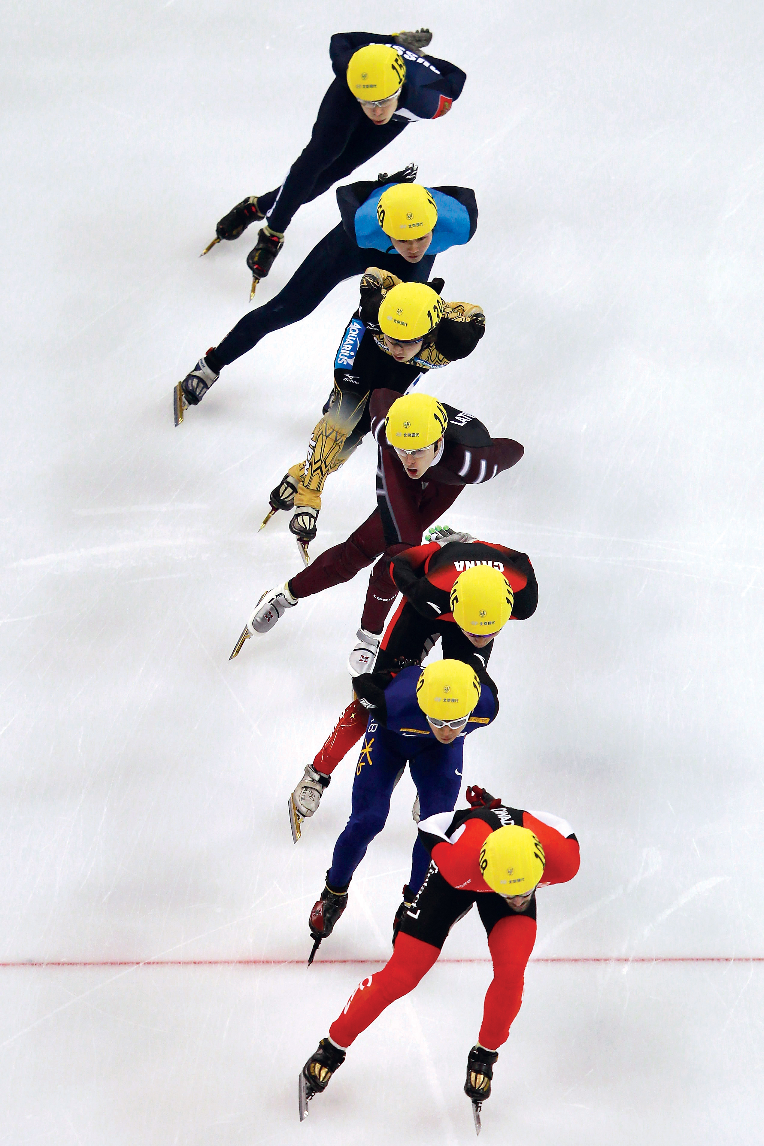 Cho, second from top, skating at the 2012 World Championships in Shanghai. Not long afterward, he was suspended from the sport for bending an opponent's skates. He never returned. Photograph by Lintao Zhang/Getty Images.