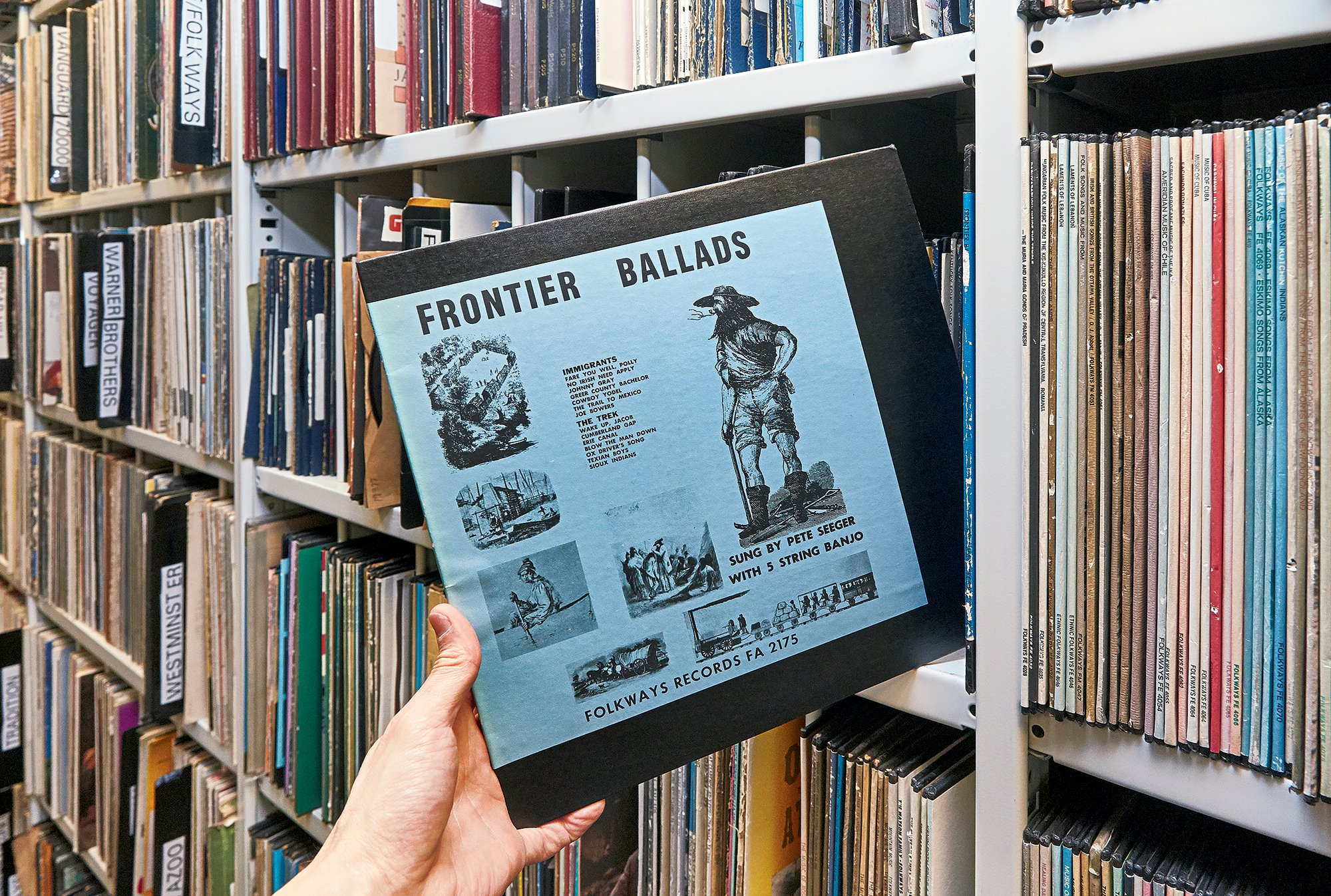 The Folkways archive contains more than 13,000 albums, along with lots of other music treasures. Photograph by Jeff Elkins.