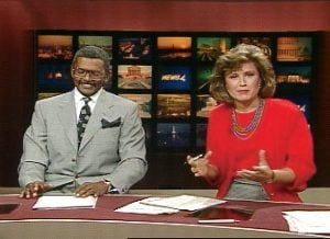 From their first broadcast in 1989, she and Vance clicked on the air. But off-screen, he loved motorcycles, she loved bicycles. Photograph courtesy of NBC4.