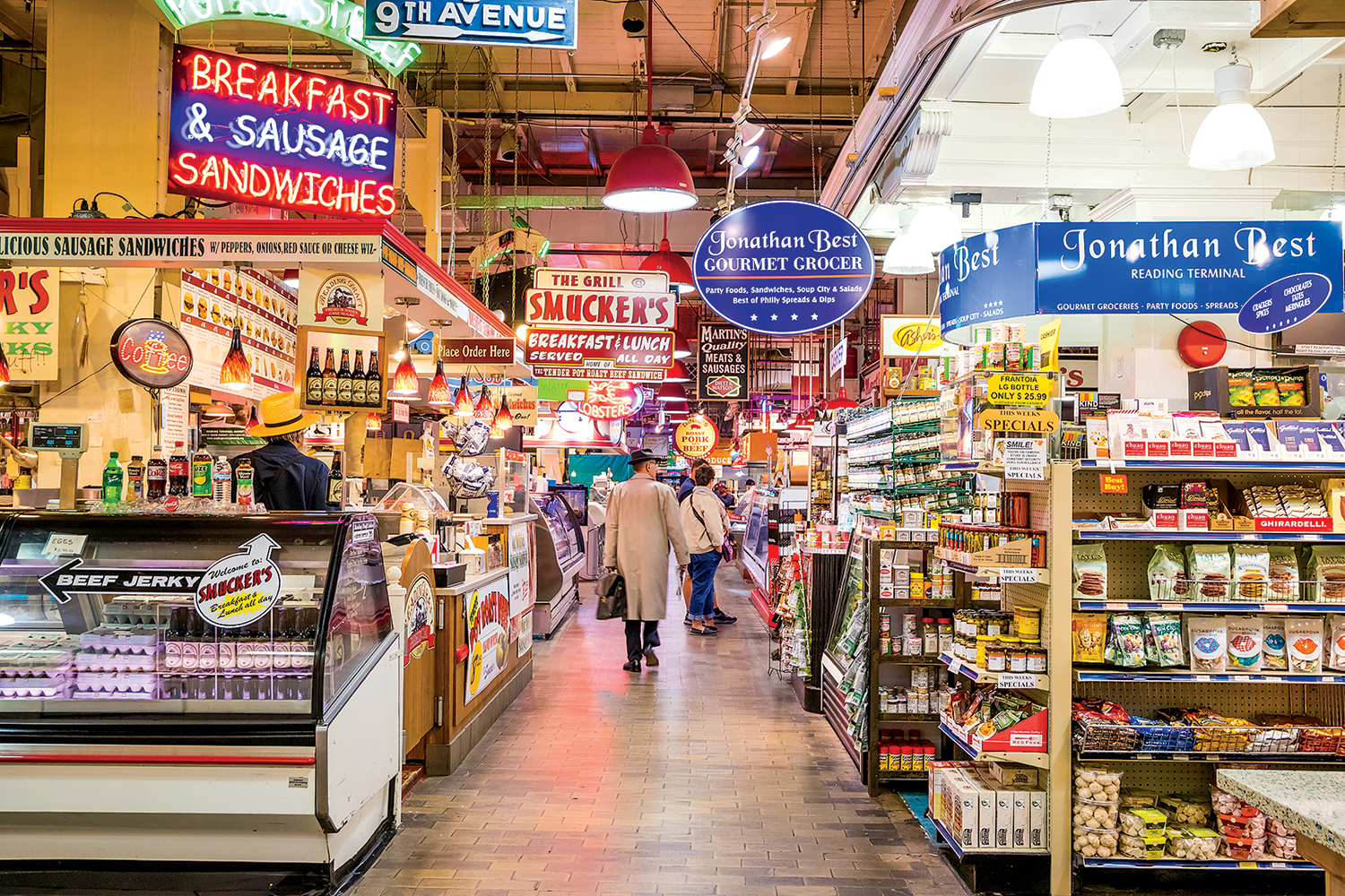 Reading Terminal Market in Philadelphia.