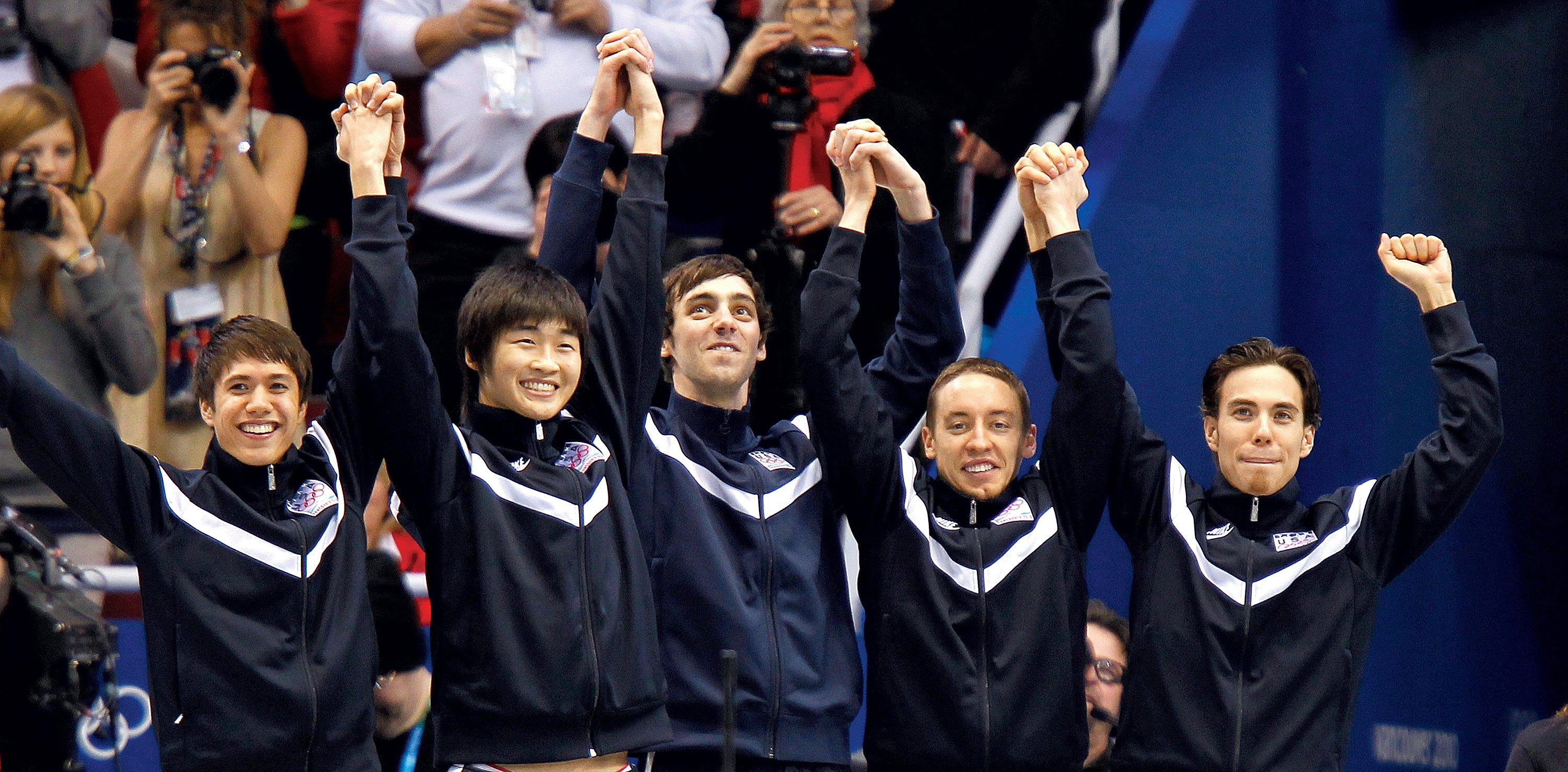 Cho, second from left, was just 18 when he won an Olympic bronze in Vancouver in 2010. Photograph by Harry E. Walker/MCT VIA Newscom.