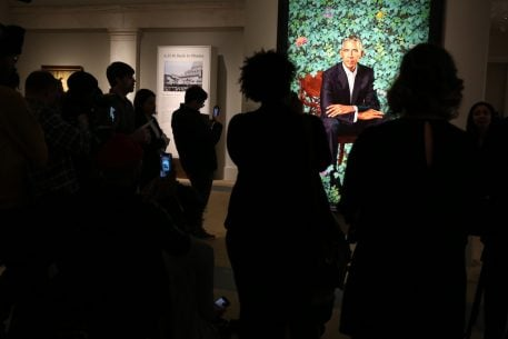 """I Miss Him"": Washington Finally Gets to See the Obama Portraits"