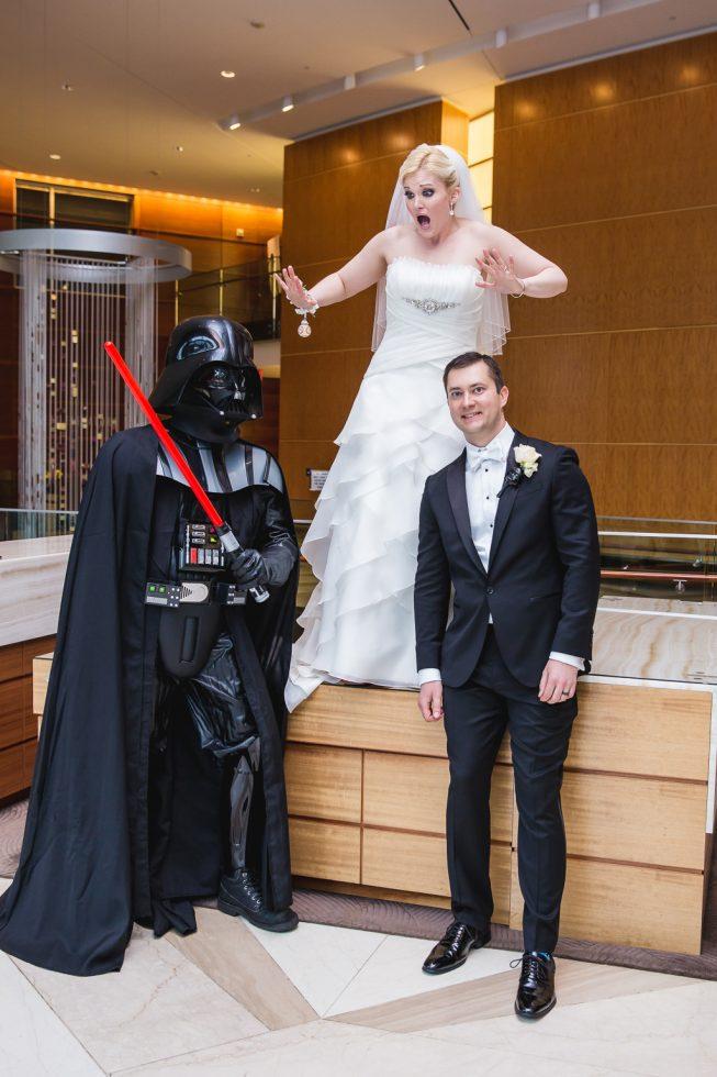 star wars themed wedding washington dc wedding Emily Dave WWE 29