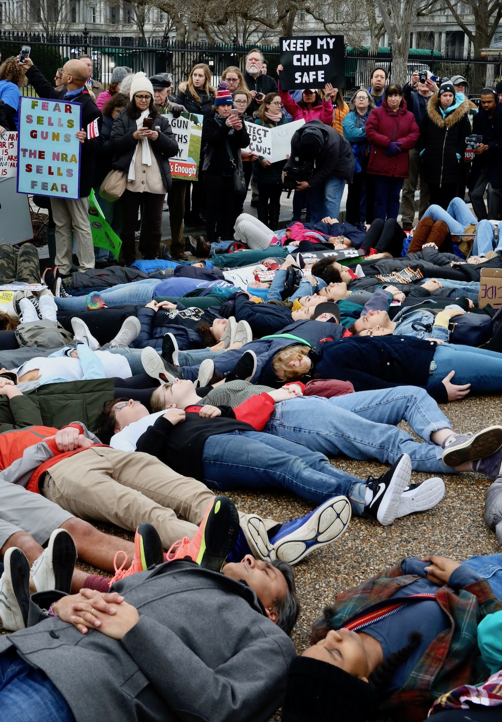 Student protest White House lie in gun laws