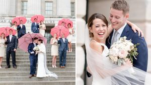 When It Rained On This Couple's Wedding Day, They Turned Their Bad Luck Into An Adorable Photo Op