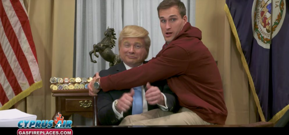 "Trump Impersonator in Super Bowl Commercial Says Kirk Cousins Was an ""Excellent"" Comedy Partner"