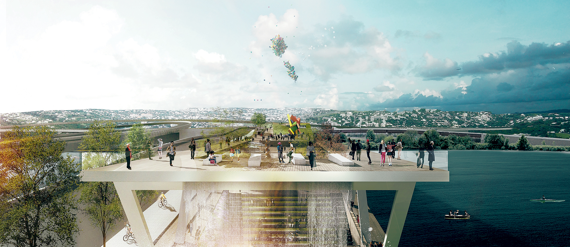 Renderings courtesy of OMA/Olin.