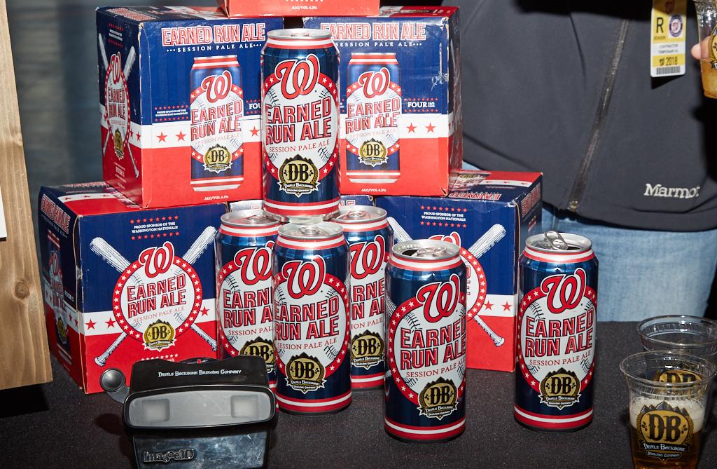 Devils Backbone's Earned Run Ale, Nationals Park