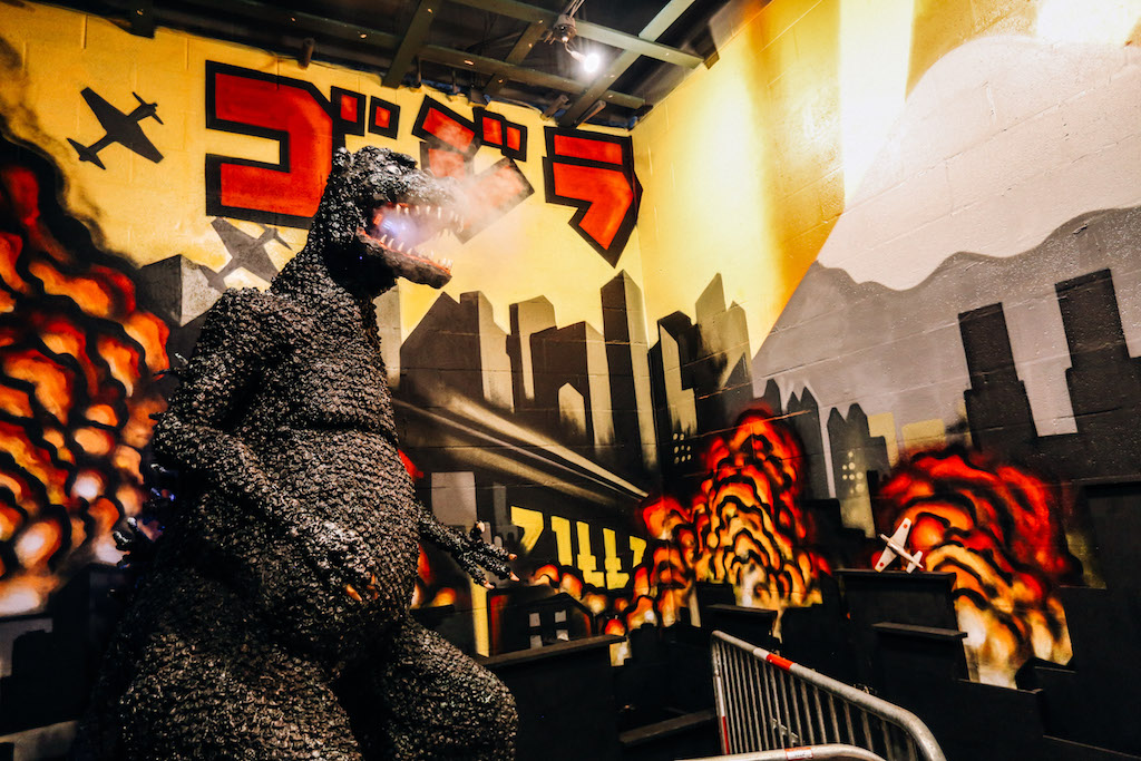 Cherry Blossom Pop Up Bar, Drink Company, cherry blossoms, Godzilla