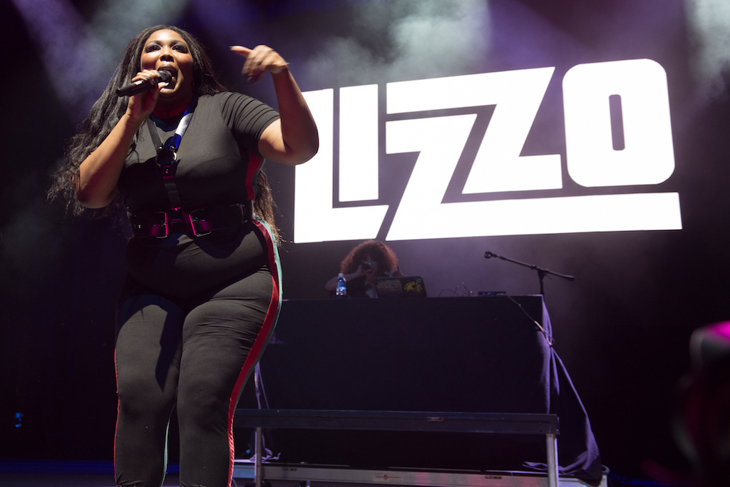 Lizzo performs at Stay Amped.