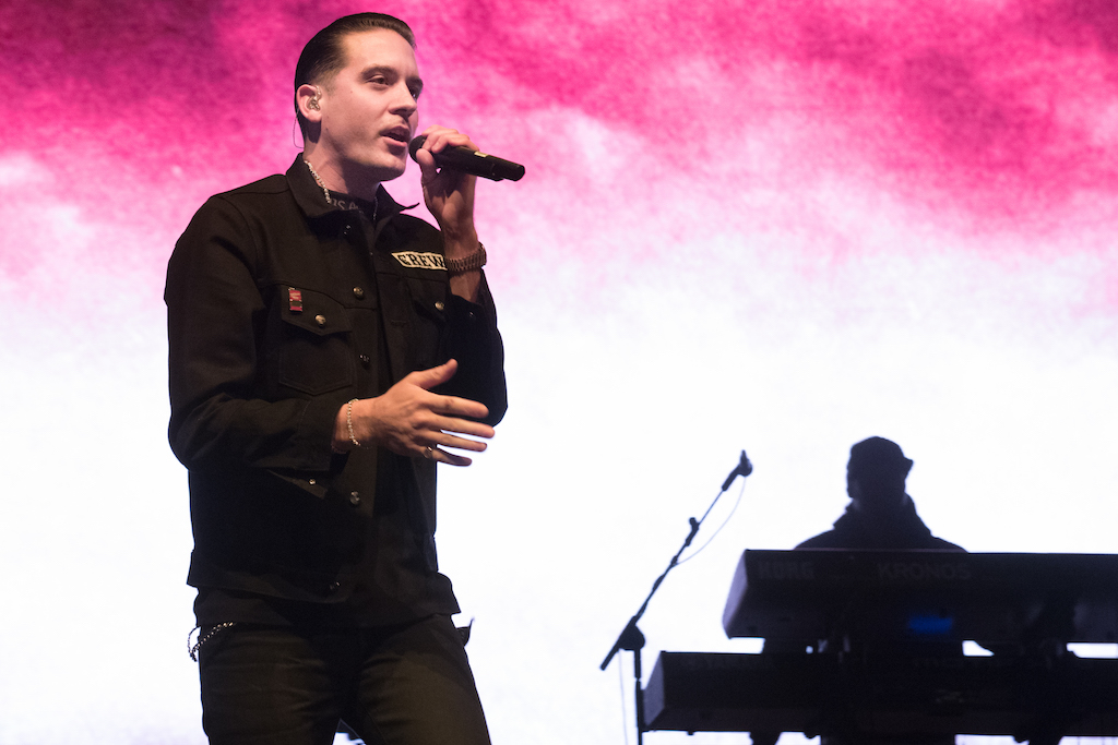 G-Eazy performs at Stay Amped.