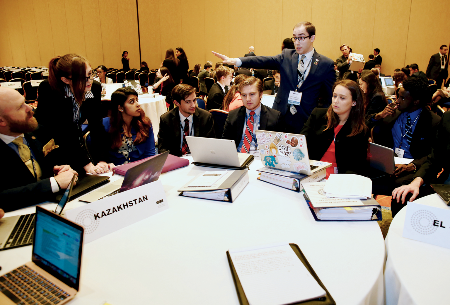 Model UN contests have two edicts: Accurately depict your country—but work with others to find common ground.