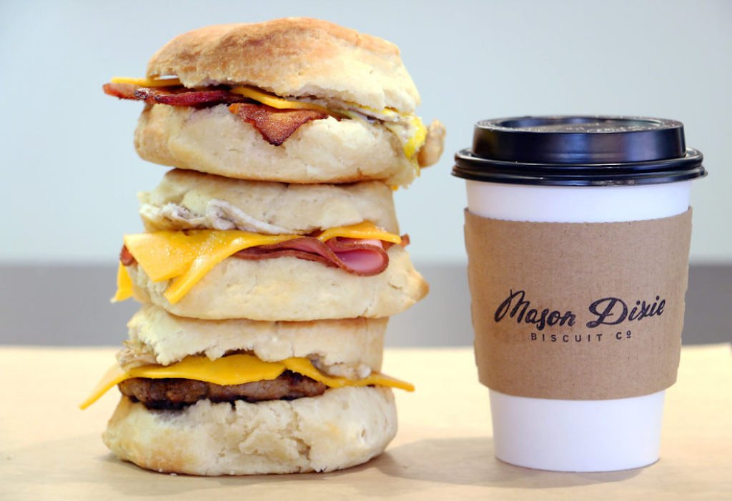 Mason Dixie Biscuit Co. serves delicious breakfast biscuits in Navy Yard.