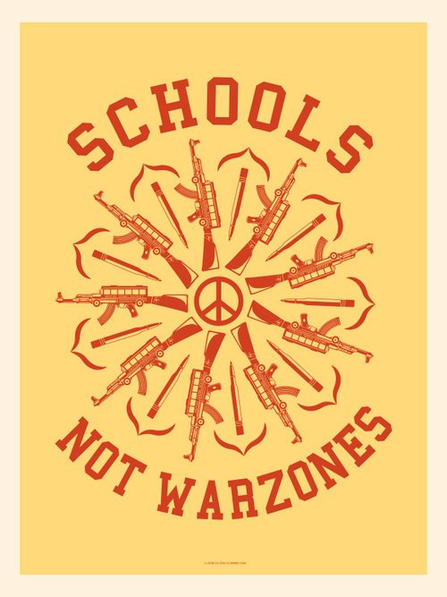 shepard fairey, gun reform, student walkout, #nationalschoolwalkout
