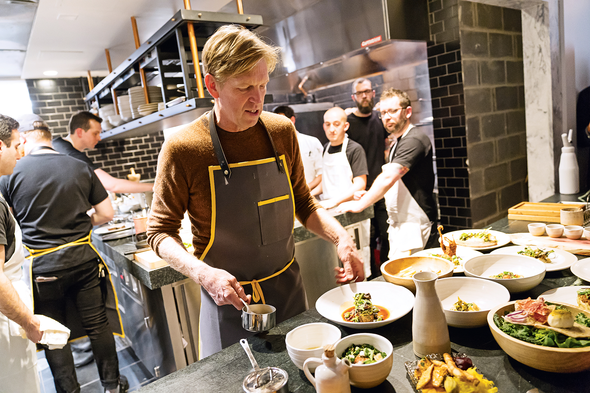 Spike Gjerde in the kitchen at A Rake's Progress. Photograph by Scott Suchman.