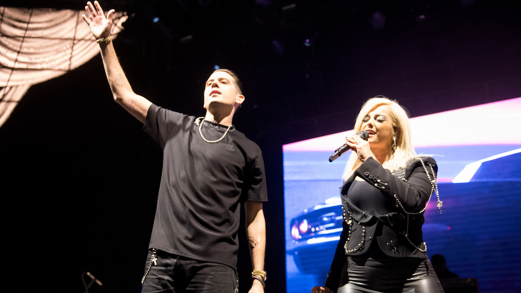 Bebe Rexha and G-Eazy perform at Stay Amped.