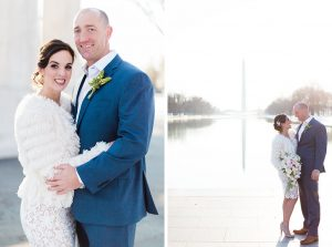 This Couple Eloped To DC Hoping For Magical Cherry Blossom Photos. Instead, They Got Snow.