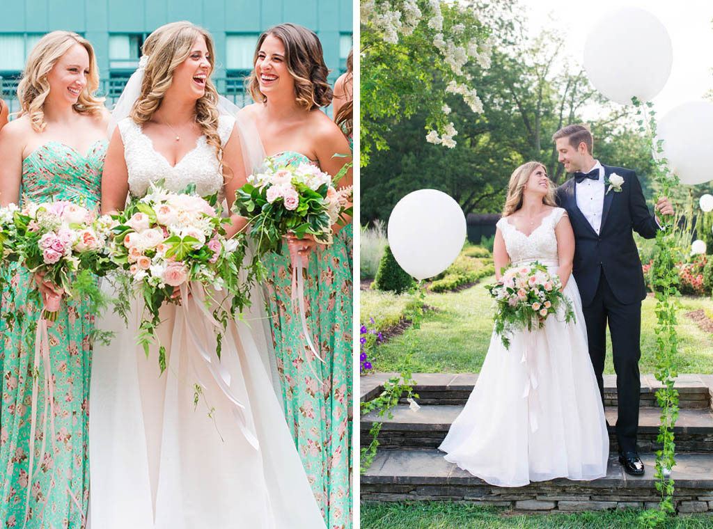 3c8a3a1b4c2018 Take A Look At The Gorgeous Floral Print Bridesmaids Dresses at This  Whimsical Maryland Wedding