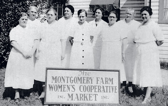 In 1932, the Montgomery Farm Women's Cooperative Market opened in Bethesda to sell fruits, vegetables, homemade preserves, and baked goods. Photograph courtesy of Library of Congress.