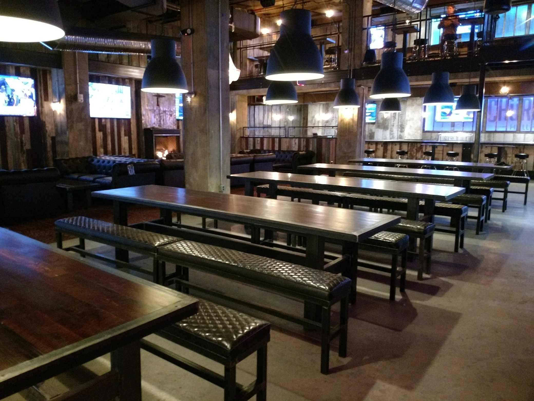 Massive beer and game bar church hall opens in georgetown for Food bar on church