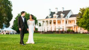 The Bride's Custom Lihi Hod Gown at This Eastern Shore Wedding is Perfection