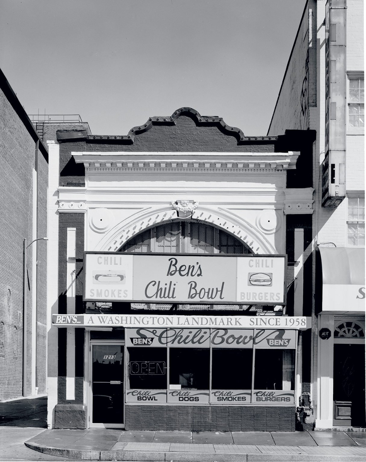 Another business that rode out the thin years was Ben's Chili Bowl. In the '80s, police staged stings there—at owner Virginia Ali's invitation. Photograph by Carol M. Highsmith. Photograph by Michael J. Horsley.