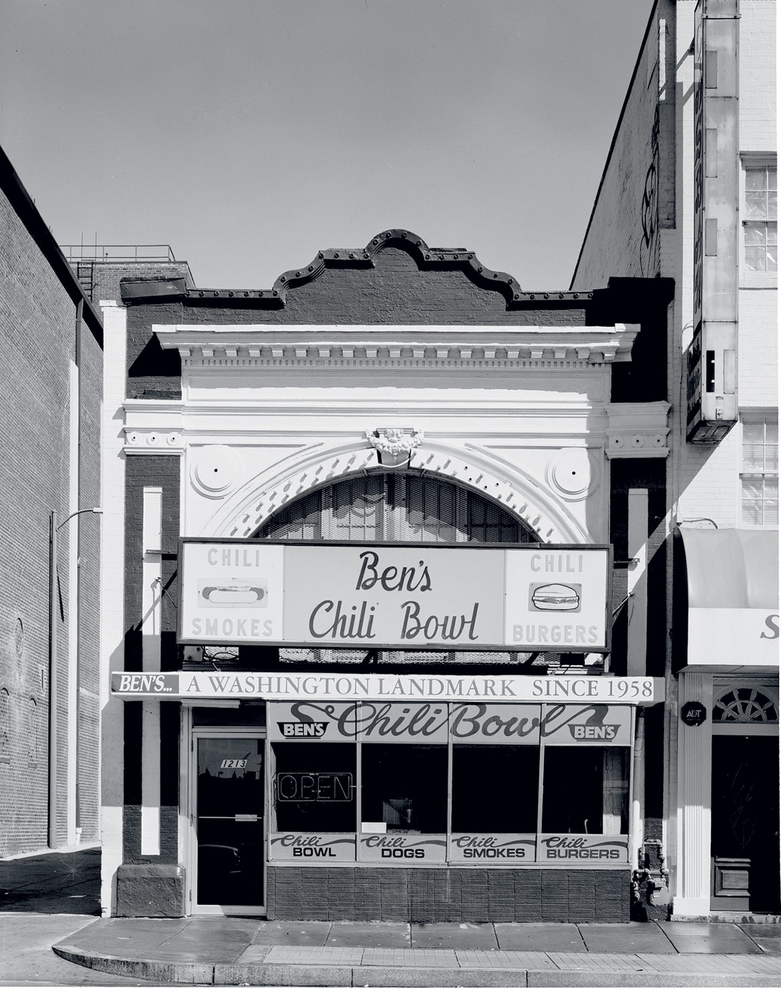 Another business that rode out the thin years was Ben's Chili Bowl. In the '80s, police staged stings there—at owner Virginia Ali's invitation. Photograph by Carol M. Highsmith.
