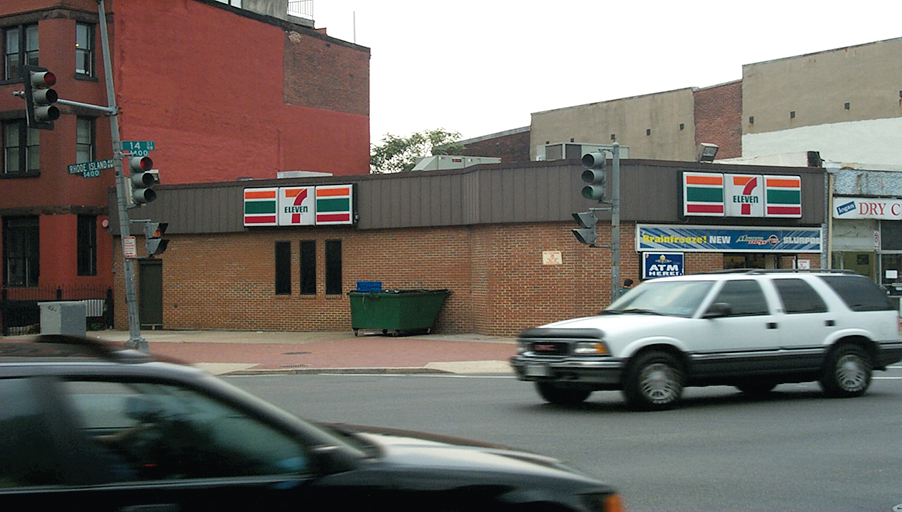 The northwest corner of 14th and Rhode Island was a 7-Eleven in 1999 . . .