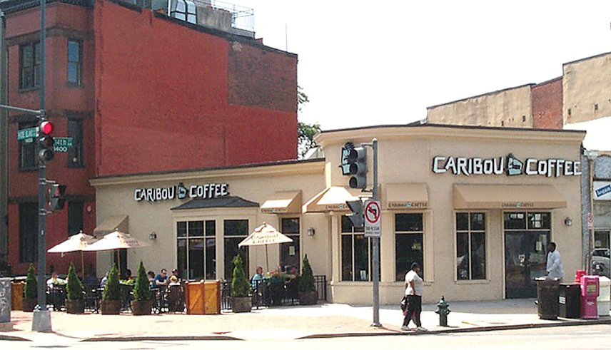 . . . a Caribou Coffee in 2002 . . .