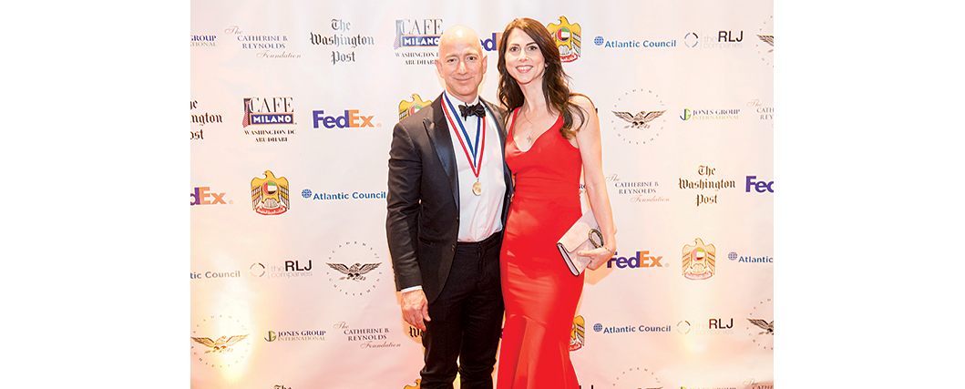 At Cafe Milano with MacKenzie Bezos for an Alfalfa Club after-party. Photograph by Dan Swartz