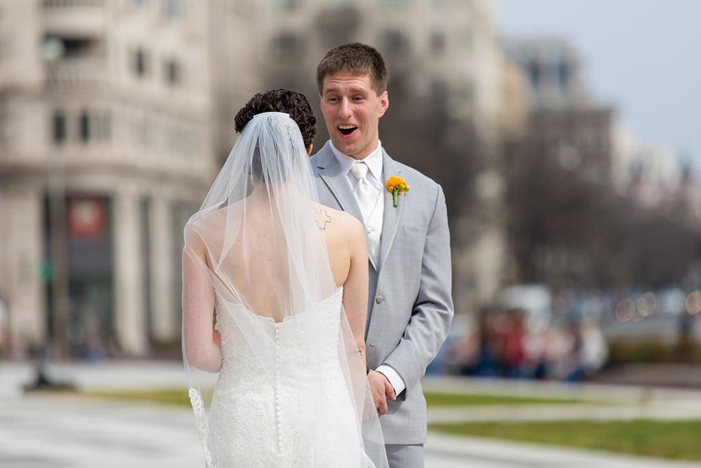 Chemistry-Themed Wedding, DC Wedding, Real Wedding, Downtown DC Wedding, Themed Wedding, Nerdy Wedding, Orange Wedding, Washington Views, Ronald Reagan Building, Ronald Reagan Building Wedding, Sokolov Photography, Chemistry Wedding