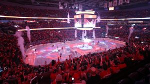 Here's How Capital One Arena Transforms When Both the Capitals and the Wizards are in the Playoffs