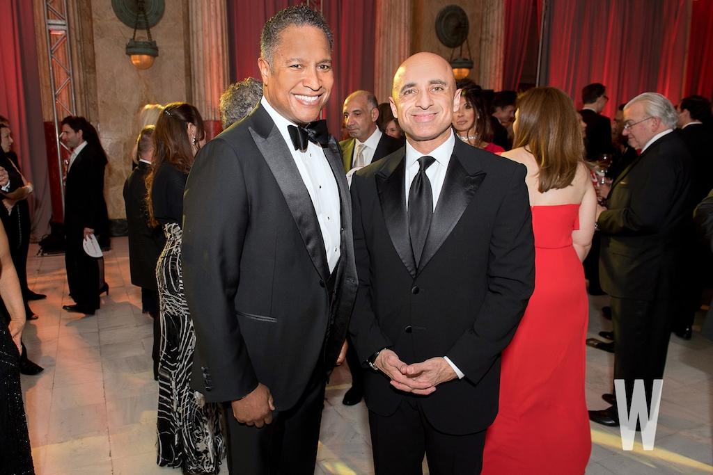 Raytheon International CEO John Harris and United Arab Emirates ambassador Yousef Al Otaiba.